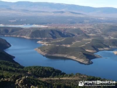 Embalse de el Atazar- Senda Genaro GR300 - canal isabel II; club senderismo madrid; grupos de sender
